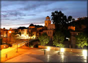 Orihuela at night