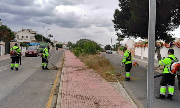 Action plan for parks and streets in Orihuela Costa